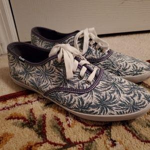 Blue floral pattern Keds - size 8.5